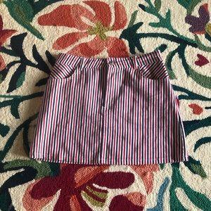 Red, White, & Blue Striped Skirt